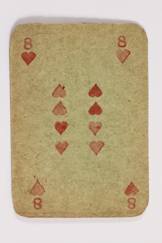 2013.379.10 r front Two decks of skat cards used by a concentration camp inmate saved by Schindler's list