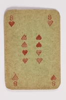 2013.379.10 r front Two decks of skat cards used by a concentration camp inmate saved by Schindler's list  Click to enlarge
