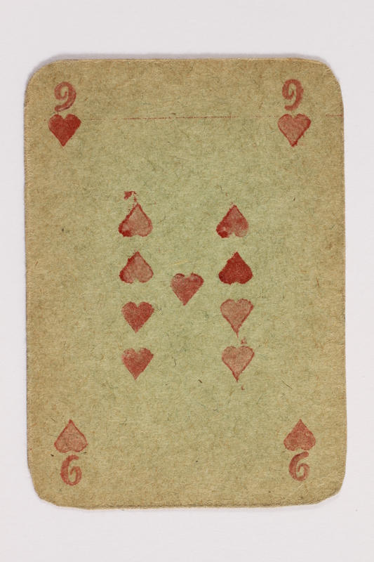 2013.379.10 s front Two decks of skat cards used by a concentration camp inmate saved by Schindler's list