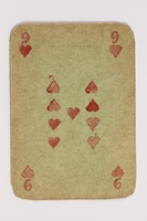 2013.379.10 s front Two decks of skat cards used by a concentration camp inmate saved by Schindler's list  Click to enlarge