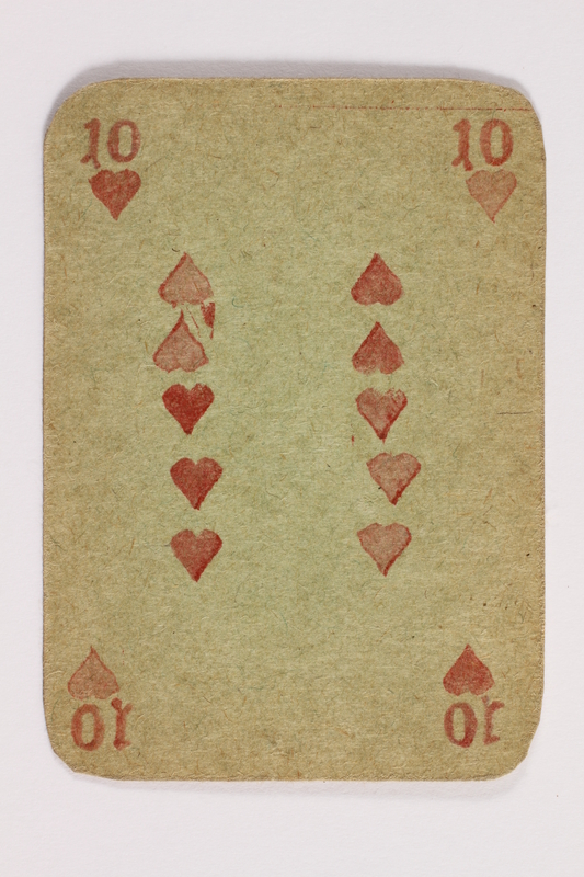 2013.379.10 t front Two decks of skat cards used by a concentration camp inmate saved by Schindler's list
