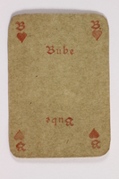 2013.379.10 u front Two decks of skat cards used by a concentration camp inmate saved by Schindler's list  Click to enlarge