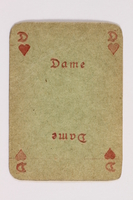 2013.379.10 v front Two decks of skat cards used by a concentration camp inmate saved by Schindler's list  Click to enlarge