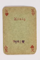 2013.379.10 w front Two decks of skat cards used by a concentration camp inmate saved by Schindler's list  Click to enlarge