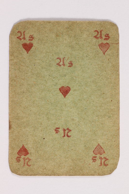2013.379.10 x front Two decks of skat cards used by a concentration camp inmate saved by Schindler's list