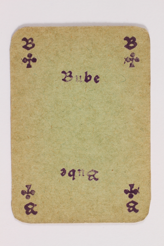2013.379.10 ac front Two decks of skat cards used by a concentration camp inmate saved by Schindler's list