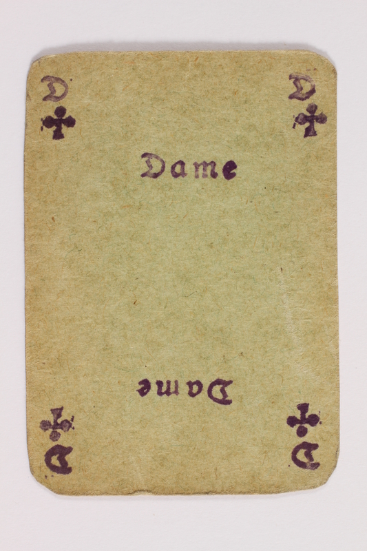 2013.379.10 ad front Two decks of skat cards used by a concentration camp inmate saved by Schindler's list