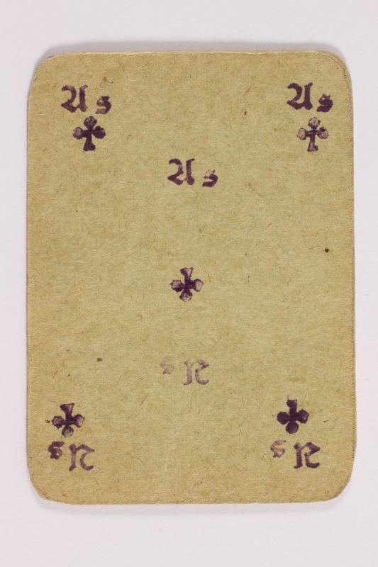 2013.379.10 af front Two decks of skat cards used by a concentration camp inmate saved by Schindler's list