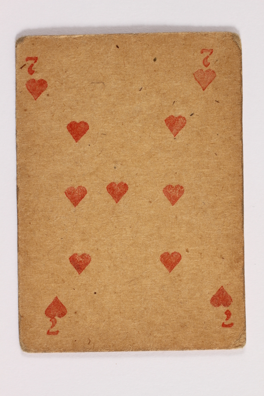 2013.379.10 ag front Two decks of skat cards used by a concentration camp inmate saved by Schindler's list