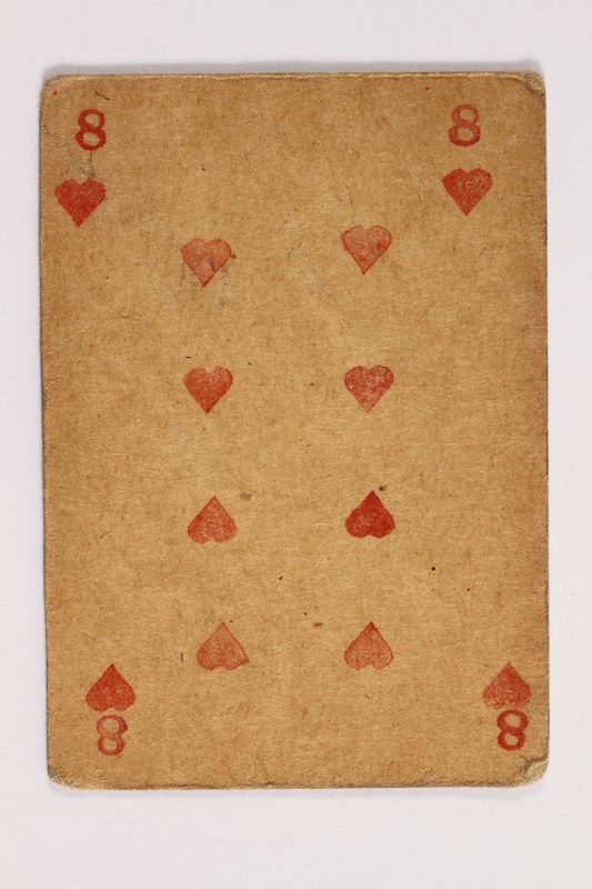 2013.379.10 ah front Two decks of skat cards used by a concentration camp inmate saved by Schindler's list