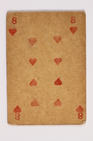 2013.379.10 ah front Two decks of skat cards used by a concentration camp inmate saved by Schindler's list  Click to enlarge