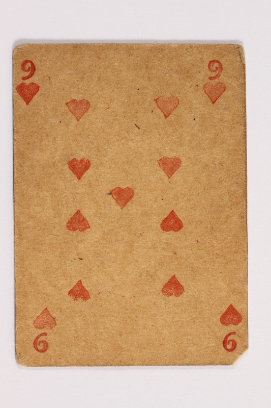 2013.379.10 ai front Two decks of skat cards used by a concentration camp inmate saved by Schindler's list