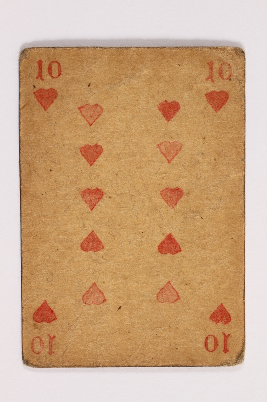 2013.379.10 aj front Two decks of skat cards used by a concentration camp inmate saved by Schindler's list