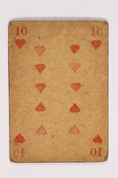 2013.379.10 aj front Two decks of skat cards used by a concentration camp inmate saved by Schindler's list  Click to enlarge