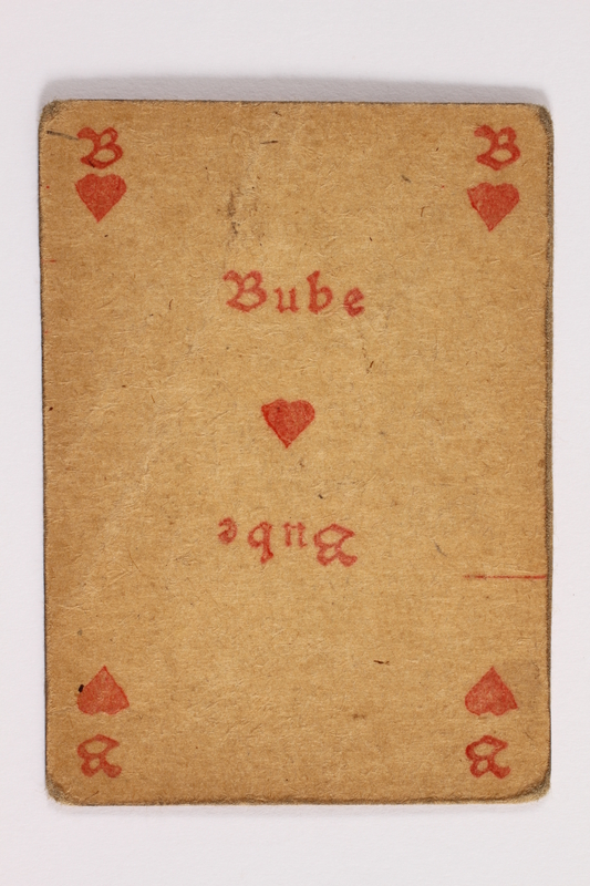 2013.379.10 ak front Two decks of skat cards used by a concentration camp inmate saved by Schindler's list