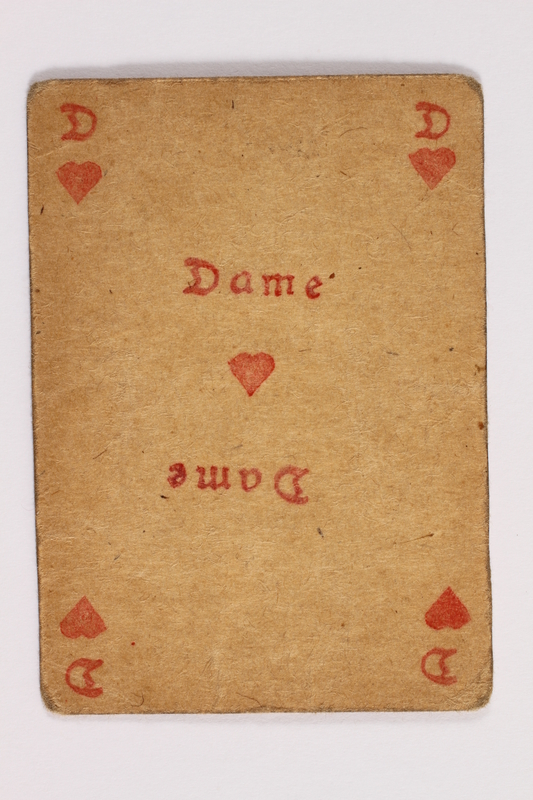 2013.379.10 al front Two decks of skat cards used by a concentration camp inmate saved by Schindler's list
