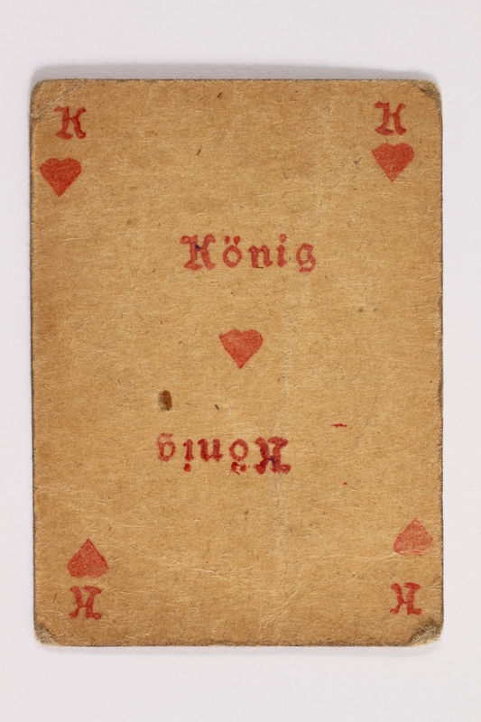 2013.379.10 am front Two decks of skat cards used by a concentration camp inmate saved by Schindler's list