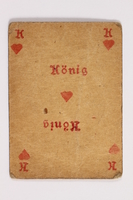 2013.379.10 am front Two decks of skat cards used by a concentration camp inmate saved by Schindler's list  Click to enlarge
