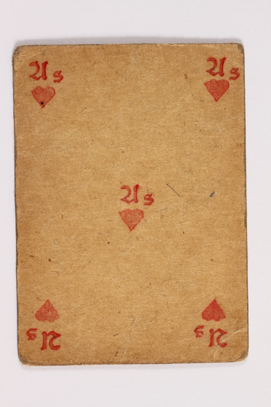 2013.379.10 an front Two decks of skat cards used by a concentration camp inmate saved by Schindler's list