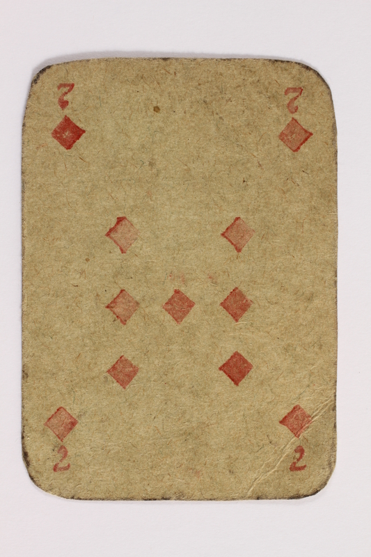 2013.379.10 ao front Two decks of skat cards used by a concentration camp inmate saved by Schindler's list