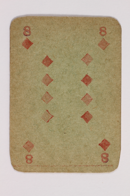 2013.379.10 ap front Two decks of skat cards used by a concentration camp inmate saved by Schindler's list