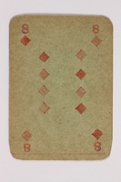 2013.379.10 ap front Two decks of skat cards used by a concentration camp inmate saved by Schindler's list  Click to enlarge