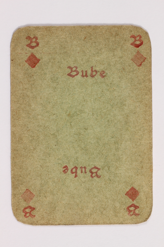 2013.379.10 as front Two decks of skat cards used by a concentration camp inmate saved by Schindler's list
