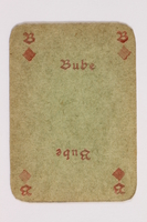2013.379.10 as front Two decks of skat cards used by a concentration camp inmate saved by Schindler's list  Click to enlarge