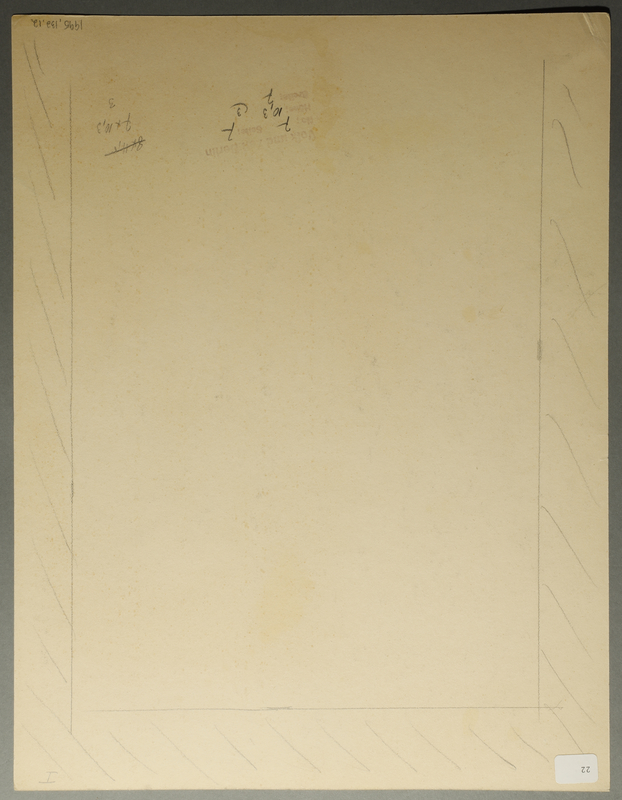 1995.132.12 back Drawing by William Sharp
