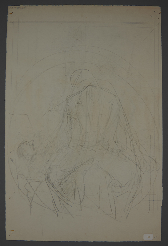 1995.132.60 back Drawing by William Sharp