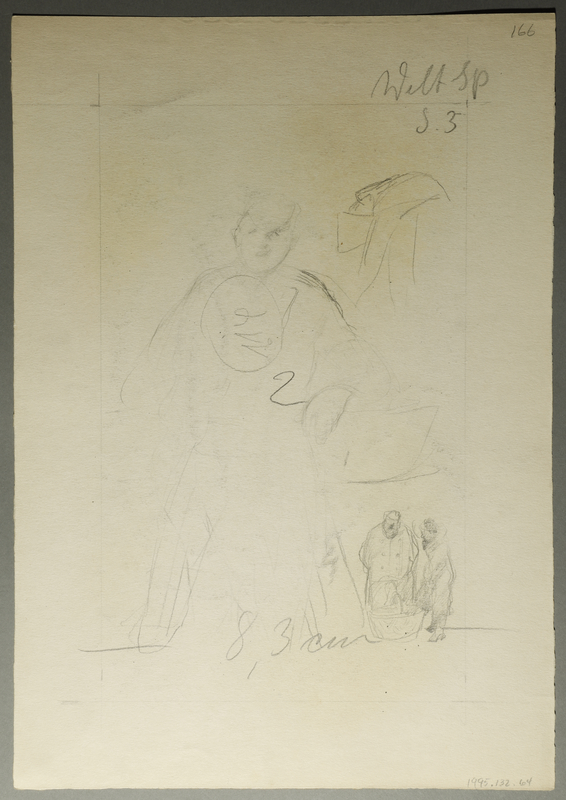 1995.132.64 back Drawing by William Sharp