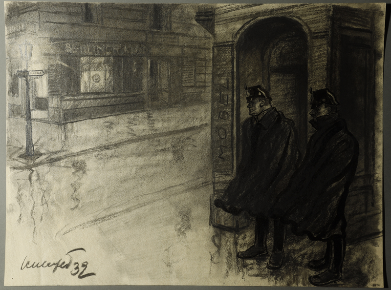 1995.133.21 front Drawing by William Sharp