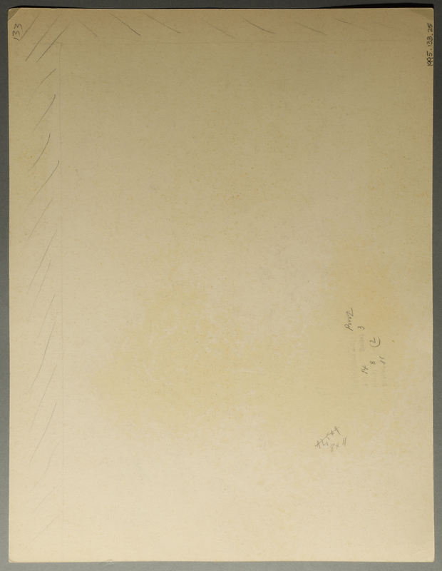 1995.133.25 back Drawing by William Sharp