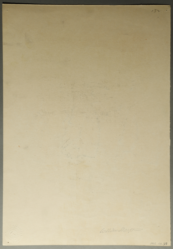 1995.133.27 back Drawing by William Sharp