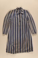 1989.263.1 front Concentration camp uniform dress worn by a Jewish Czech inmate  Click to enlarge