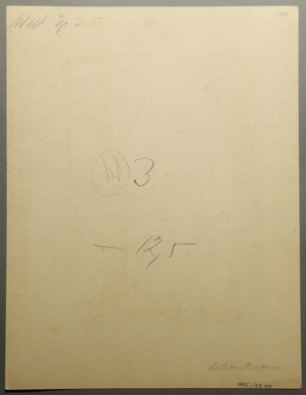 1995.133.40 back Drawing by William Sharp