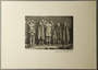 William Sharp aquatint of six people with Judenstern, hands raised in surrender