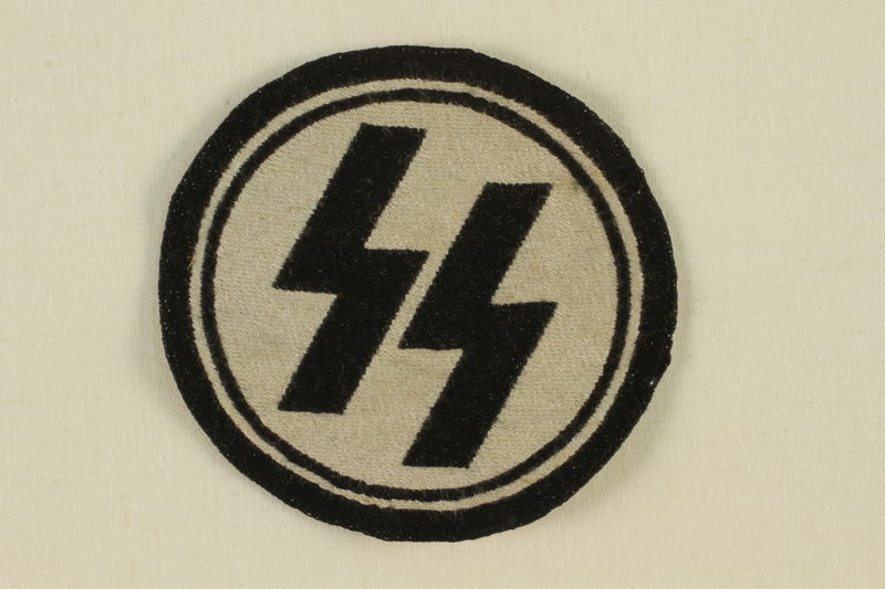 1995.142.18 front Nazi SS badge