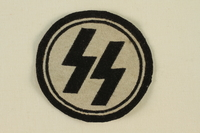 1995.142.18 front Nazi SS badge  Click to enlarge