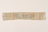 1995.144.2 front traveling worker's armband  Click to enlarge