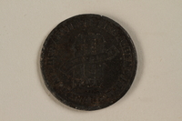1995.26.1 back Łódź (Litzmannstadt) ghetto scrip, 10 mark coin  Click to enlarge