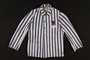 Concentration camp uniform jacket with purple triangle worn by Jehovah's Witness