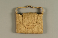 1989.273.1 front Handmade raffia bags made by a Jewish refugee woman  Click to enlarge