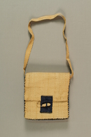 1989.273.2 front Handmade raffia bags made by a Jewish refugee woman  Click to enlarge