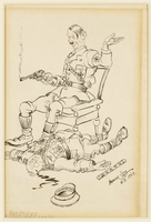 CM_1995.40.38 front Arthur Szyk drawing  Click to enlarge