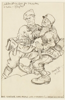 CM_1995.40.39 front Arthur Szyk anti-Nazi satirical drawing  Click to enlarge
