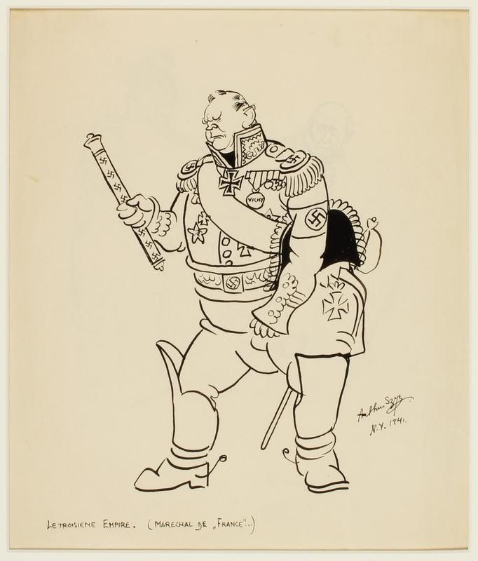 CM front_1995.40.41_b Arthur Szyk drawing