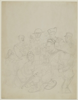 CM_1995.40.55 front Arthur Szyk sketch  Click to enlarge