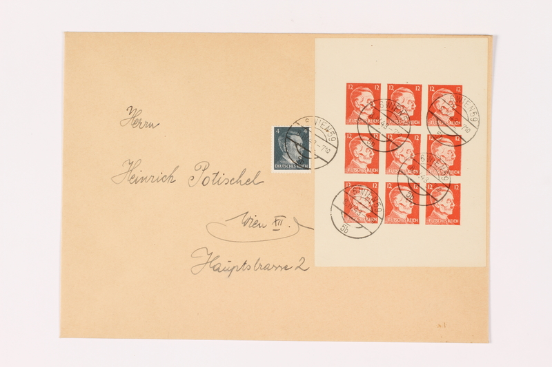 1995.47.1 front Stamped envelope
