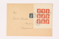 1995.47.1 front Stamped envelope  Click to enlarge